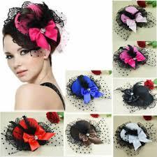 <b>Women</b> Girl <b>Bow Hair</b> Clip Lace Feather Mini Fancy Party <b>Headwear</b> ...