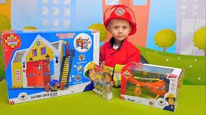 <b>Пожарный</b> Сэм с базой и спасатель Том с вертолётом Fireman ...