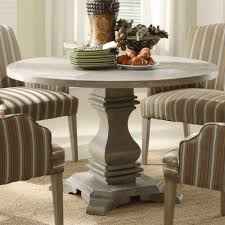 kitchen pedestal dining table set: homelegance euro casual round pedestal dining table in rustic weathered