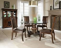 chairs leather dining upholstered  brown leather upholstered dining chair classic dining set round glass