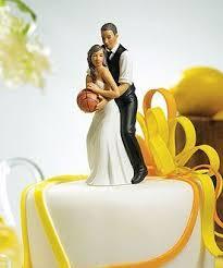 <b>Basketball</b> Bride and Groom <b>Cake Topper</b>