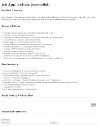 job application journalist template job application journalist