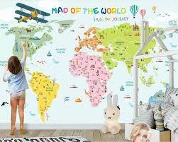 Online Shop <b>beibehang Custom 3D</b> Cartoon World Map <b>Photo</b> ...
