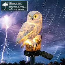 Christmas <b>Solar</b> Power <b>LED Owl</b> Lawn <b>Light</b> Outdoor Waterproof ...