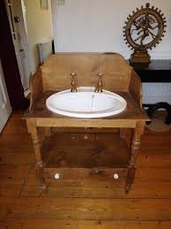 washstand bathroom pine: antique pine wash stand with armitage shanks sink and gold taps
