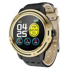Bakeey <b>V5s</b> Metal Bezel Full Round Touch Dynamic Heart Rate ...
