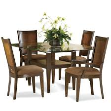 dining room table mirror top:  round glass dining table with wooden base