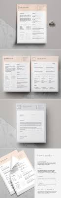 top ideas about resume templates cover minimal resume template cover letter leacuteonne by this paper fox on creativemarket