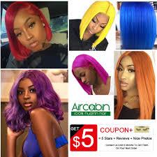<b>Aircabin</b> Purple Bob <b>Lace</b> Front Wigs Human Hair <b>13x4</b> Blonde Blue ...