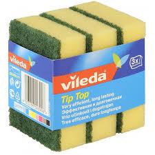 Купить <b>Губка Vileda TipTop</b> для посуды, 3 шт по выгодной цене