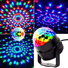 Mini <b>stage</b> lights, EJBOTH Magic ball lamp <b>RGB LED stage effect</b> ...
