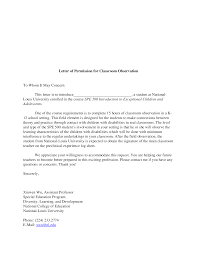 letter of permission for classroom observation documents