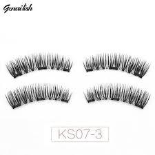 <b>Genailish Magnetic eyelashes 3D</b> false eyelashes with 3 magnets ...