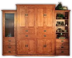 traditional wall bed design made of oak wood in brown finished having frosted glass door and alluring murphy bed desk