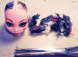 monster high doll hair removal tutorial my fast and easy method to removing doll hair
