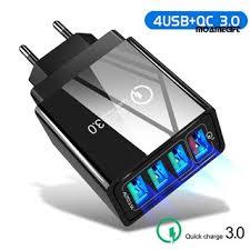 MOAME→Home Travel Portable 48W <b>QC3</b>.<b>0 Fast Charging</b> 4 USB ...