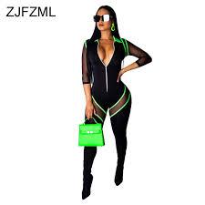 Sheer <b>Mesh Patchwork</b> Beach Bodysuits Women <b>Neon Green</b> Waist ...