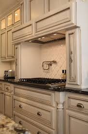 painted kitchen cabinets vintage cream: paint is benjamin moore quotwhite dovequot with a chocolate glaze live beautifully middot glaze cabinets kitchenpainting