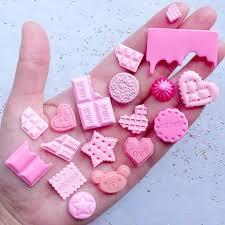 Strawberry Chocolate & Sweet Cabochon <b>Mix</b> | Pink Decoden ...