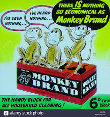 vintage advertisement for soap stock photos vintage cinema advertisement for monkey brand soap early possibly 1930s stock image