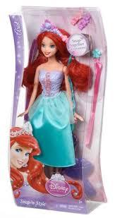 <b>Кукла Mattel</b> Ариэль Модные <b>прически</b>, Принцесса Диснея ...