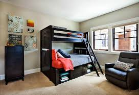 bedroom large size sweet bunk bed bedroom decor ideas for kids with black laminated wooden architectural mirrored furniture design ideas wood