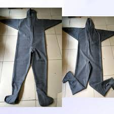 1mm <b>Black Rubber Zip</b> Fishing Waders with Socks Breathable ...