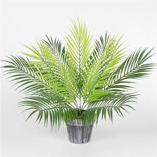 <b>Artificial</b> Fern <b>Plants</b> Plastic Tropical <b>Palm</b> Tree <b>Leaves</b> Branch ...