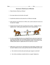 Worksheets On Newton    S Laws Of Motion For Kids Intrepidpath