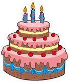Image result for gateau d'anniversaire avec 3 bougies
