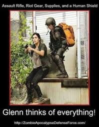 Glenn Rhee - Humor on Pinterest | The Walking Dead, Walking Dead ... via Relatably.com