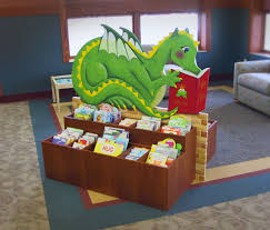 dragon bookbin children library furniture