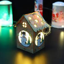2018 <b>Led</b> Lights Christmas <b>Wooden</b> Cottage Christmas <b>Wooden</b> ...