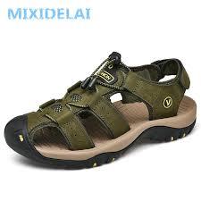 <b>MIXIDELAI Genuine Leather Men's</b> Shoes Summer Men's Sandals ...