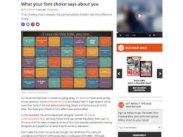 popular design news of the week  what your font choice says about you