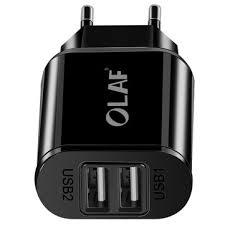 <b>Olaf</b> dual usb charger <b>5v 2.4a</b> eu plug adapter fast wall charger ...