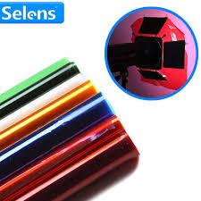 <b>Professional 40*50cm</b> Gels Color Filter <b>Paper</b> for studio light red ...