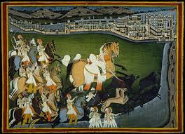 nineteenth century court arts in india  essay  heilbrunn  a prince hunting boars with his retinue