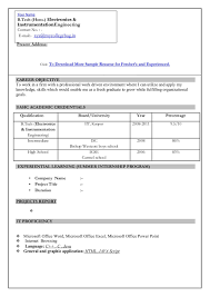 new resume format for freshers resume new resume format for freshers 2013