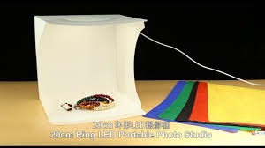 <b>PULUZ 20cm</b> Ring LED Panel <b>Folding</b> Portable Light Photo Lighting ...
