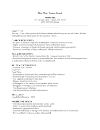 Pizza Maker Resume   Best Resume Collection