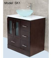 bathroom vanity sink left side