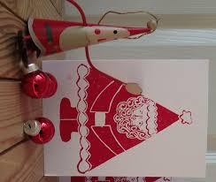 Father <b>Christmas</b>, <b>Santa</b> Claus Card Lino printed by Hand ...