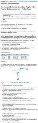 ccna v rse chapter practice skill assessment pt net ccna 2 v5 rse chapter 2 practice skill assessment pt