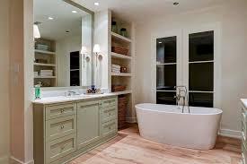 washstand bathroom pine: cottage bathroom alcove shelves gray green bathroom vanity mirror pine wood floors