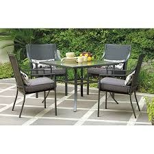 patio dining:  mainstays alexandra square  piece patio dining set grey with leaves seats