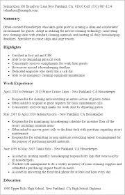 resume templates housekeeper housekeeper resumes