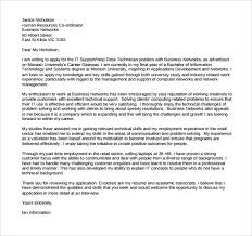 sample cover letter information technology technology cover letters