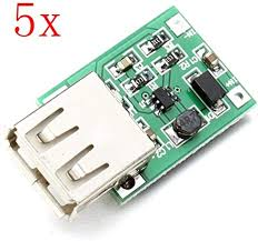 <b>5Pcs DC-DC 0.9V-5V</b> USB Output Charger Step Up Power: Amazon ...