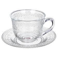"""Чайная пара (кружка 200мл с блюдцем), стекло, """"<b>Ажур</b>"""" в ..."""